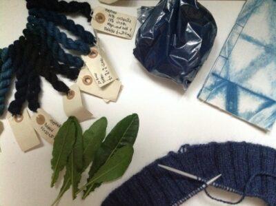 Plantefarvning – blåt